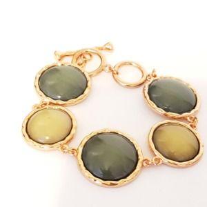 Rose Gold Tone Bracelet Toggle Close